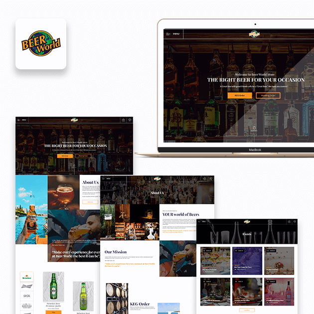 Beer World - Website Development