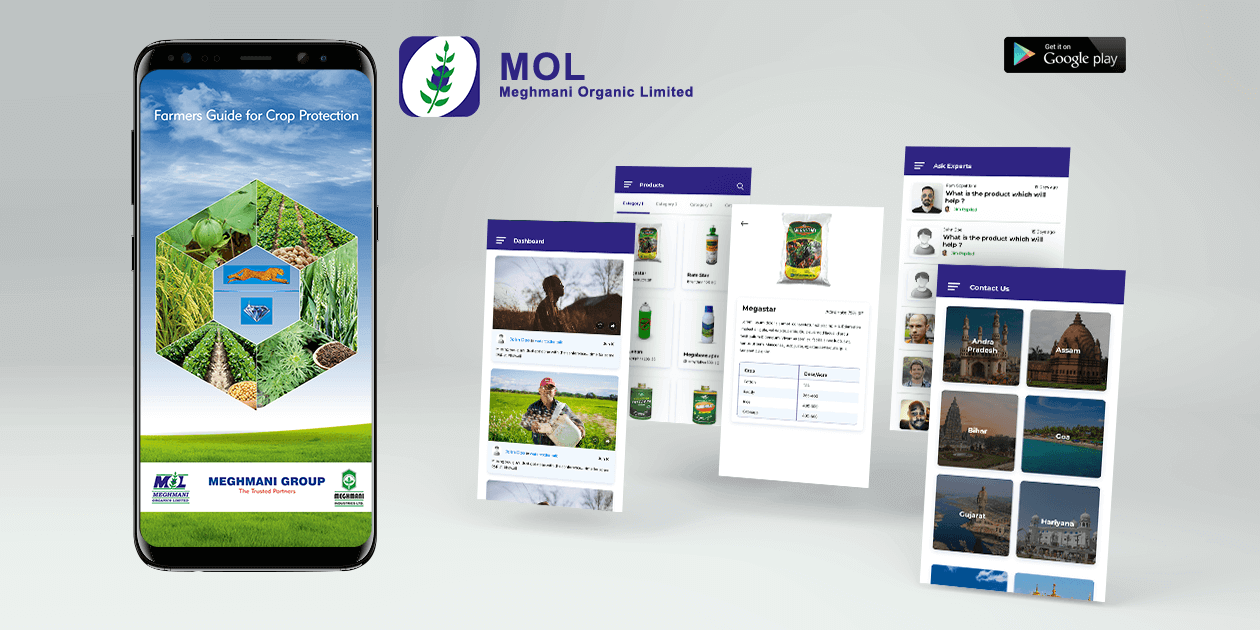 Meghmani Farmer App - Mobile Application Development