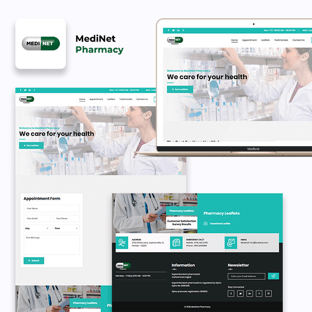 Medinet - Website Development