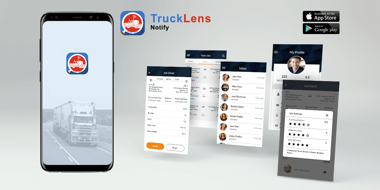 Trucklens Notify - Mobile Application Development