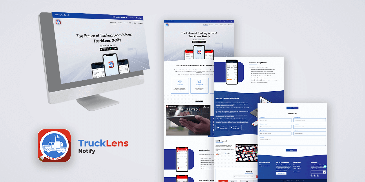 Trucklens Notify - Website and App Development